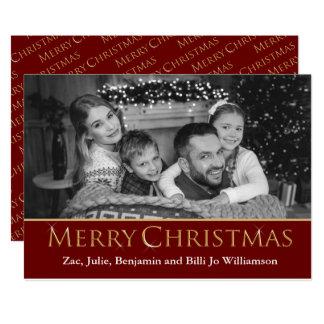 Photo convertie par automobile à Noël noir et Carton D'invitation 12,7 Cm X 17,78 Cm