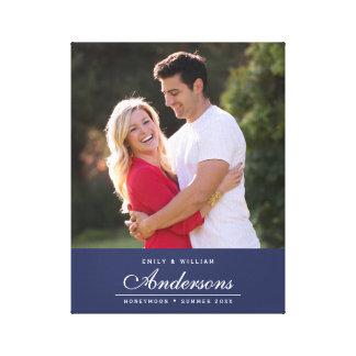Photo cursive de nom de famille de nom Editable de Toiles