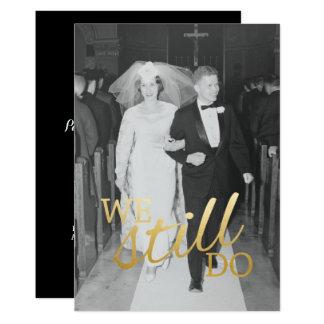 Photo d'anniversaire de mariage de coutume carton d'invitation  12,7 cm x 17,78 cm