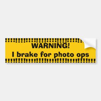 Photo d'avertissement jaune Ops Autocollant Pour Voiture