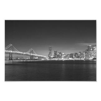 Photo de blanc de noir de nuit de San Francisco