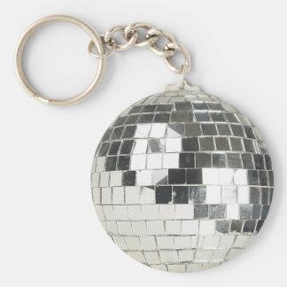 photo de boule de disco porte-clé rond