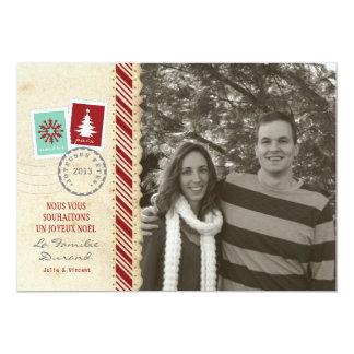 Photo de Carte de Noël Vintage Cartons D'invitation Personnalisés