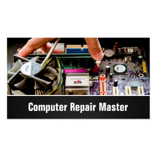 Photo de carte mère de PC de technicien-réparateur Carte De Visite Standard
