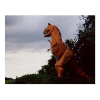 Photo de carte postale de dinosaure de Rex T-Rex
