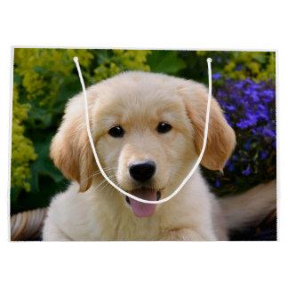 Photo de charme Wrapbag de chiot de chien de chien Grand Sac Cadeau