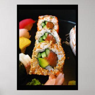 Photo de chef de fin gourmet de sashimi de petit p poster