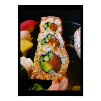 Photo de chef de fin gourmet de sashimi de petit p posters