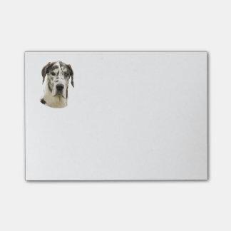Photo de chien de great dane de harlequin post-it®