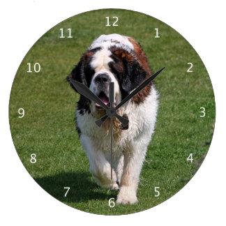 Photo de chien de St Bernard belle Grande Horloge Ronde