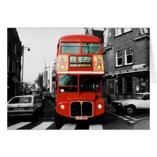 Photo de couleur de tache d'autobus de Londres Carte De Vœux