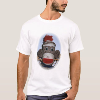 Photo de détenu de singe, fille t-shirt