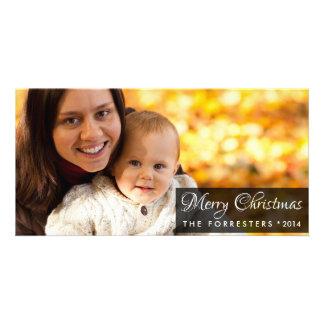 Photo de famille chic moderne de Joyeux Noël Cartes De Vœux Avec Photo
