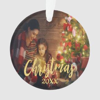 Photo de famille faite sur commande de Noël avec