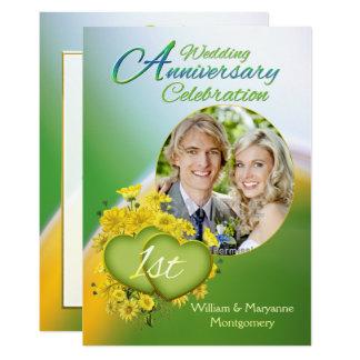 Photo de fête d'anniversaire de mariage d'amour de carton d'invitation  12,7 cm x 17,78 cm