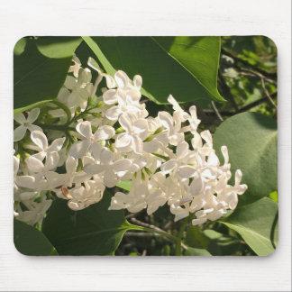 Photo de fleur avec le beau mousepad lilas blanc tapis de souris