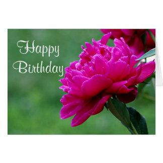 Photo de fleur de pivoine carte de vœux