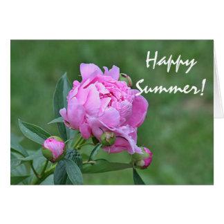 Photo de fleur d'été carte de vœux