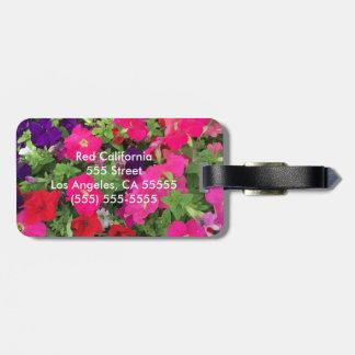 Photo de fleur étiquette à bagage