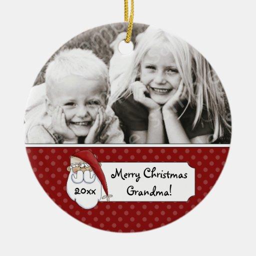 Photo de grand-maman du père noël de Noël personna Ornement