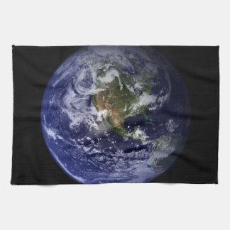 Photo de l'espace de la terre de planète serviette éponge