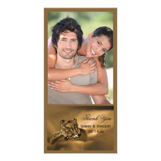 Photo de Merci de mariage de bague à diamant de Photocartes