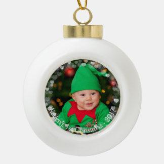 Photo de Noël et ornement de boule d'information