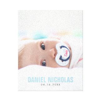 Photo de nom de bébé bleu toiles