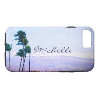 Photo de palmiers cas de téléphone portable de coque iPhone 7