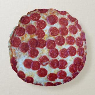 Photo de pizza de pepperoni coussins ronds