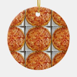 Photo de pizza ornement rond en céramique