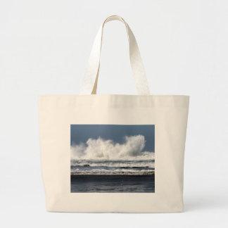 Photo de plage imprimée sur le sac fourre-tout
