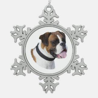 Photo de portrait de chien de boxeur de faon décoration de noël