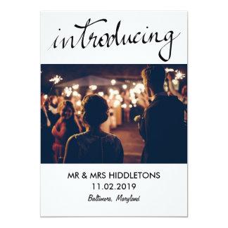 Photo de présentation simple de couples de mariage carton d'invitation  12,7 cm x 17,78 cm