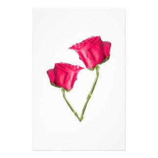 Photo de roses rouges prospectus 14 cm x 21,6 cm