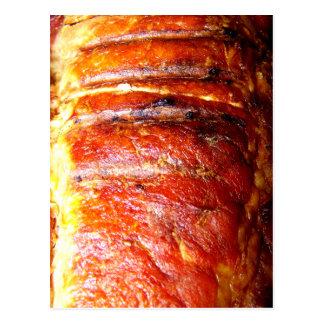 Photo de rôti d'échine de porc carte postale