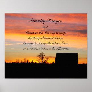 Photo de silhouette de coucher du soleil de prière poster