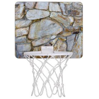 Photo de texture de mur de roche sur le mini mini-panier de basket