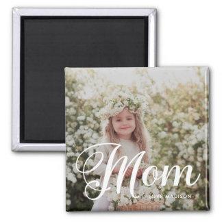 Photo de typographie de maman et aimant élégants