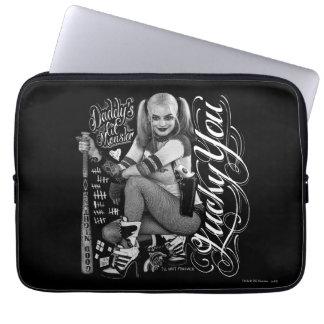 Photo de typographie du peloton | Harley Quinn de Housses Ordinateur Portable