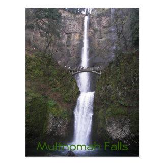 Photo de voyage d'automnes de Multnomah Carte Postale