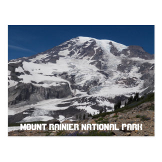 Photo de voyage de glacier du mont Rainier Carte Postale