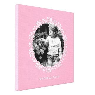 Photo décorative de fantaisie rose de cadre toile tendue sur châssis