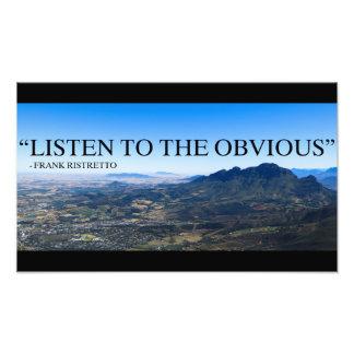 Photo des montagnes à Stellenbosch avec un qoute.