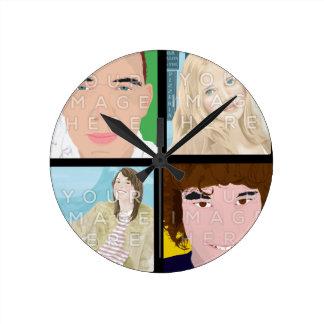 Photo d'Instagram 4 personnalisée autour de l'horl Horloge Ronde