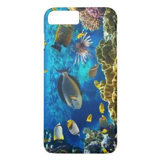 Photo d'un poisson tropical sur un récif coralien coque iPhone 7 plus