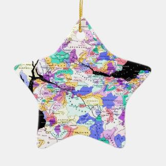 Photo écossaise de clans de carte de l'Ecosse Ornement Étoile En Céramique