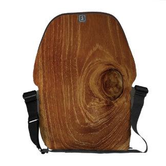 Photo en bois rustique de motif de nature de Brown Sacoche