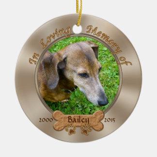 Photo et ornement de mémorial de chien
