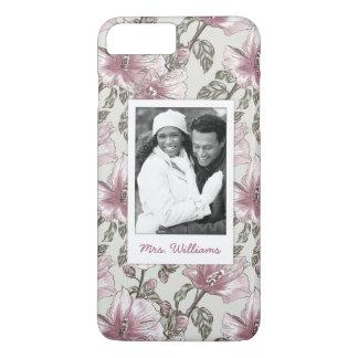 Photo faite sur commande et motif de fleurs rose coque iPhone 8 plus/7 plus